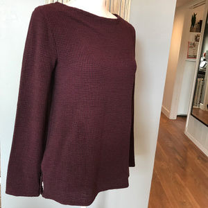 H&M Flowy Maroon Sweater SMALL